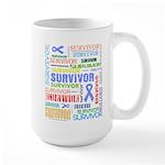 Survivor - Stomach Cancer Large Mug