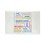 Survivor - Stomach Cancer Rectangle Magnet (100 pa