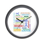 Survivor - Stomach Cancer Wall Clock
