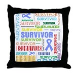 Survivor - Stomach Cancer Throw Pillow