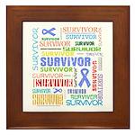 Survivor - Stomach Cancer Framed Tile