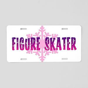Figure Skater 2 Aluminum License Plate