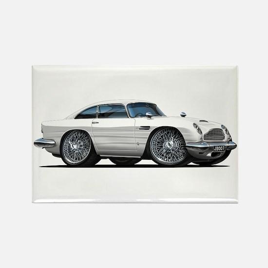 DB5 White Car Rectangle Magnet