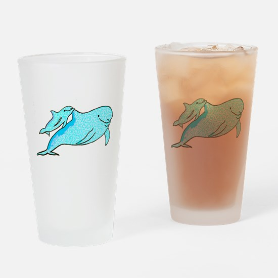 Dolphin Mama and Baby Drinking Glass