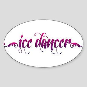 Ice Dancer 1 Sticker (Oval)
