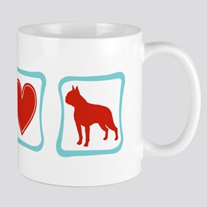 Peace, Love & Boston Terriers Mug