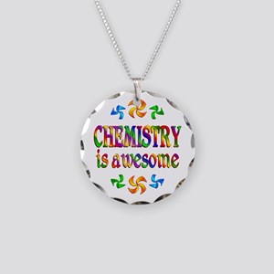Chemistry is Awesome Necklace Circle Charm