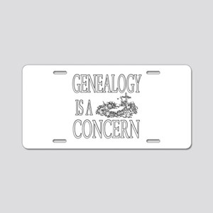 Genealogy is a Grave Concern Aluminum License Plat