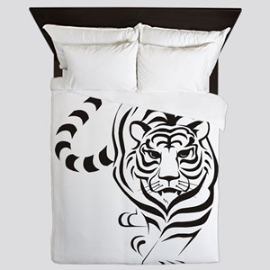 White Tiger Icon Queen Duvet