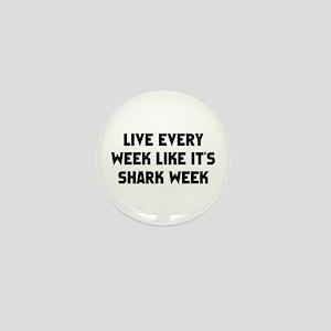 Live Shark Week Mini Button
