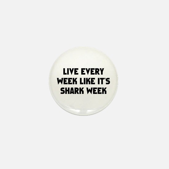 Live Shark Week Mini Button