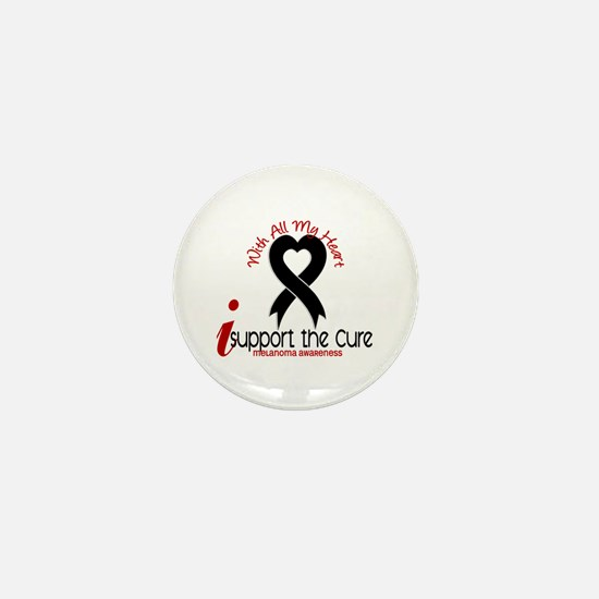 With All My Heart Melanoma Mini Button