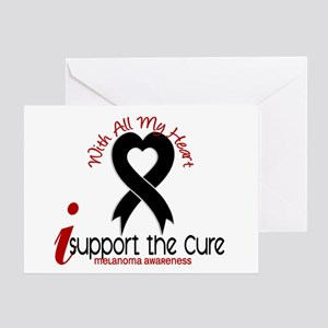 With All My Heart Melanoma Greeting Card