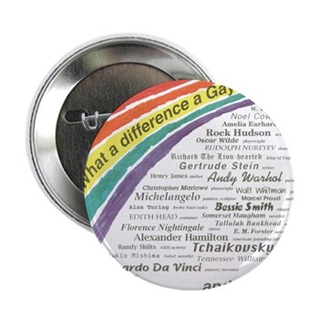 """Famous Gays Shirt 2.25"""" Button (100 pack)"""