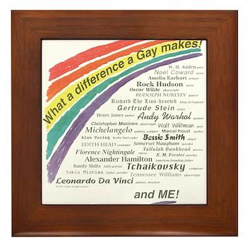 Famous Gays Shirt Framed Tile