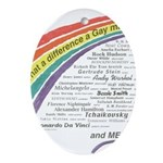 Famous Gays Shirt Oval Ornament