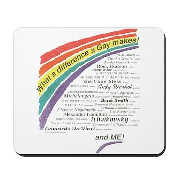 Famous Gays Shirt Mousepad