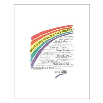 Famous Gays Shirt Small Poster