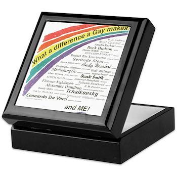 Famous Gays Shirt Keepsake Box