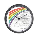 Famous Gays Shirt Wall Clock