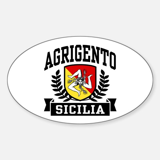 Agrigento Sicilia Sticker (Oval)