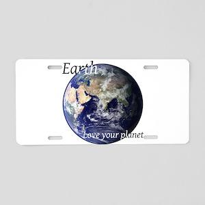 Love Your Planet Aluminum License Plate