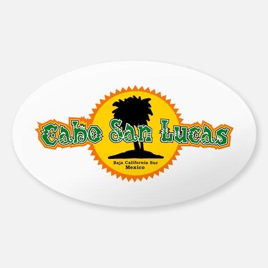 Cabo San Lucas Sun Sticker (Oval)