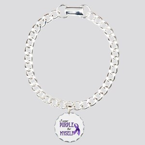 Wear Purple - Myself Charm Bracelet, One Charm