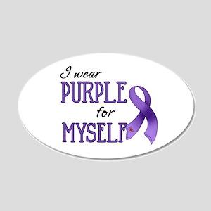 Wear Purple - Myself 22x14 Oval Wall Peel