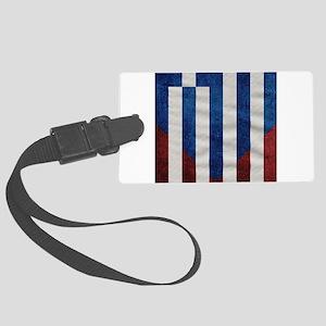 Greek American Flag Large Luggage Tag