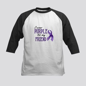 Wear Purple - Friend Kids Baseball Jersey