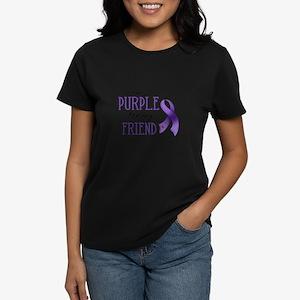 Wear Purple - Friend Women's Dark T-Shirt