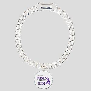 Wear Purple - Friend Charm Bracelet, One Charm