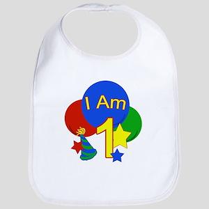 I Am 1 Birthday primary Bib