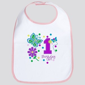 1st Birthday Girl Bib