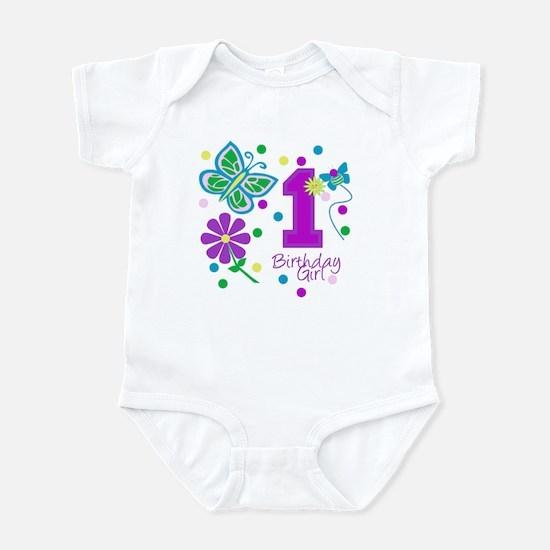 1st Birthday Girl Infant Creeper