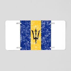 Vintage Barbados Flag Aluminum License Plate