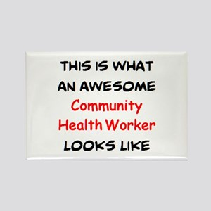 awesome community health worker Rectangle Magnet