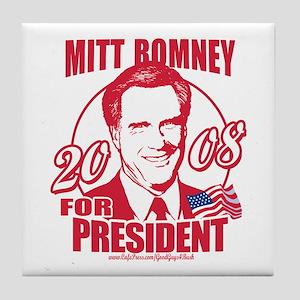Republican Red Romney Tile Coaster