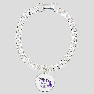 Wear Purple - Wife Charm Bracelet, One Charm