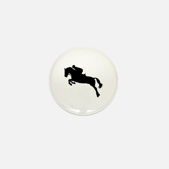 Horse show jumping Mini Button