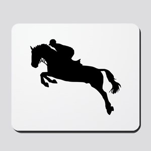 Horse show jumping Mousepad