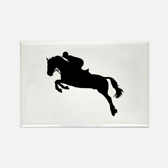 Horse show jumping Rectangle Magnet
