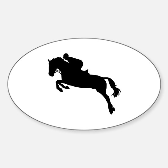 Horse show jumping Sticker (Oval)