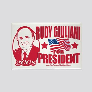 Republican Red Rudy Rectangle Magnet