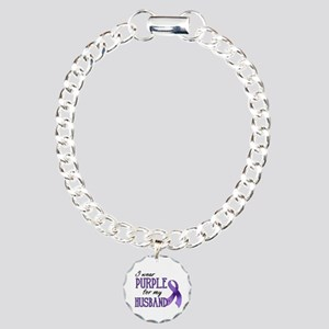 Wear Purple - Husband Charm Bracelet, One Charm