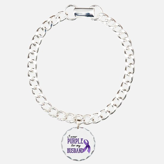 Wear Purple - Husband Charm Bracelet, One Charm