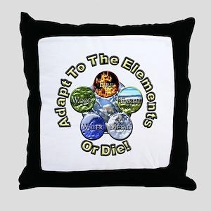 Adapt or Die Throw Pillow