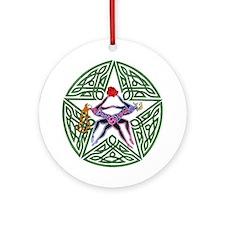 Lover's Pentagram Ornament (Round)