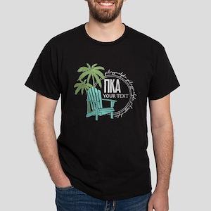 Pi Kappa Alpha Palm Chair Personalize Dark T-Shirt